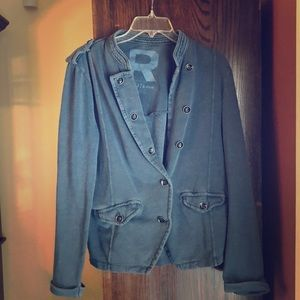 Roxy blue canvas blazer